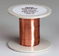 Kupfer-Drahtspule (Drähte, blank), 0,4 mm Durchmesser, 50 m lang