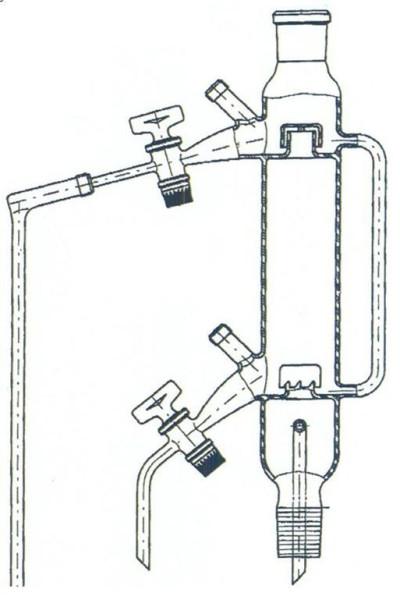 Glockenbodenkolonne mit 2 Böden, NS 29/32, Boro.3.3