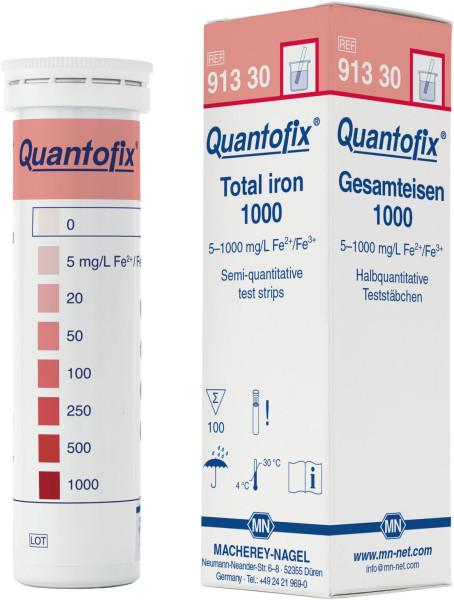 QUANTOFIX® Teststäbchen Gesamteisen 1000, Dose à 100 Teststreifen