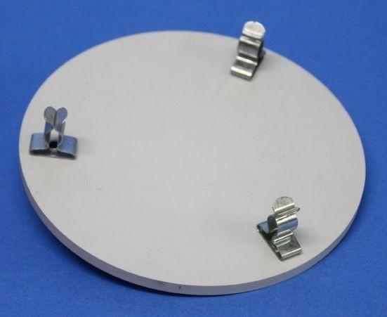 MBM-Tischaufsatz mit Federspange für Stativring 75 mm Durchmesser