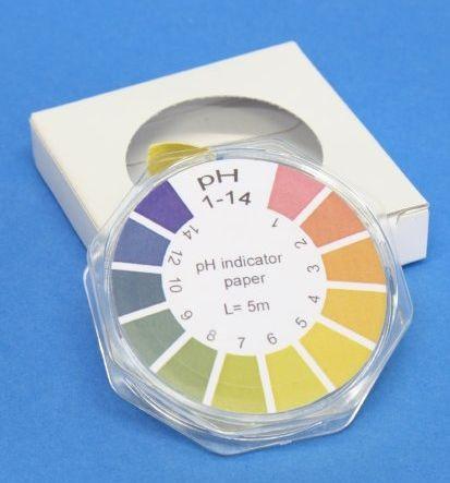 Universal-Indikatorpapier, Messbereich: pH 1-14