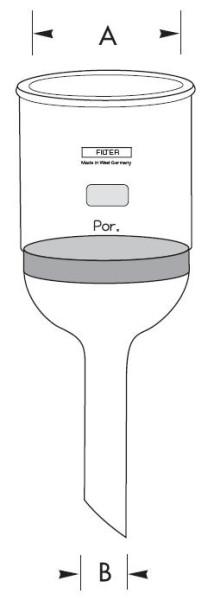 Filternutschen, 50 ml Inhalt, Porosität D3
