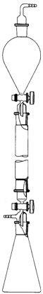 Apparat zur Säulen-Chromatographie