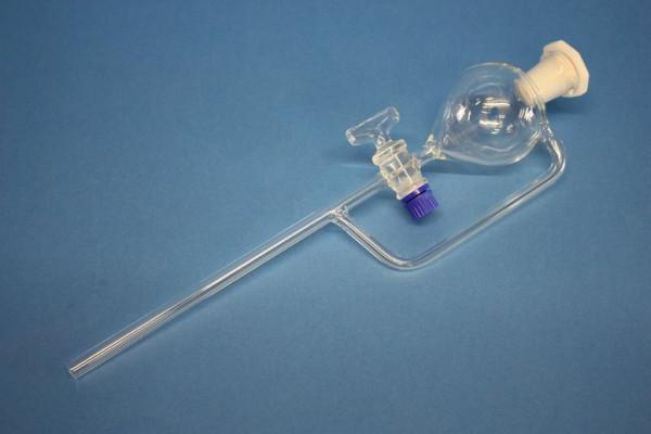 Scheidetrichter, birnenförmig, mit Druckausgleich, 100 ml
