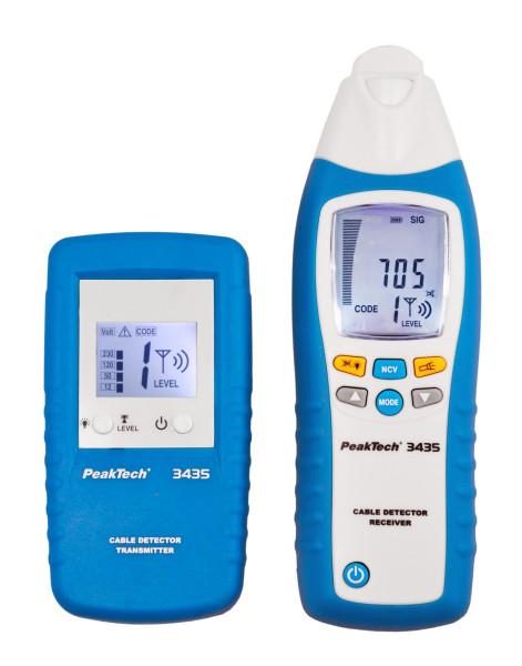 Leitungssuchgerät / Stromkreisdetektor mit Sender & Empfänger «PeakTech® P 3435»