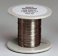 Chromnickel-Drahtspule (Drähte, blank), 0,4 mm Durchmesser, 50 m lang