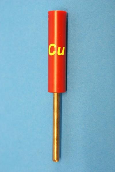 Kupfer Stab-Elektroden, rund 83 mm (beschriftet)