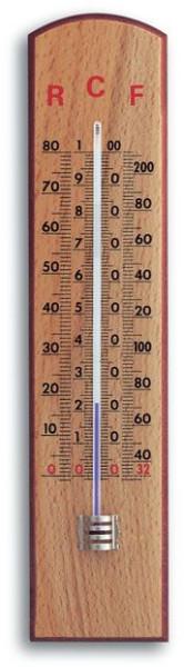 Wandthermometer ( Innenthermometer ) mit Reaumur-, Celsius, Fahrenheitskala.