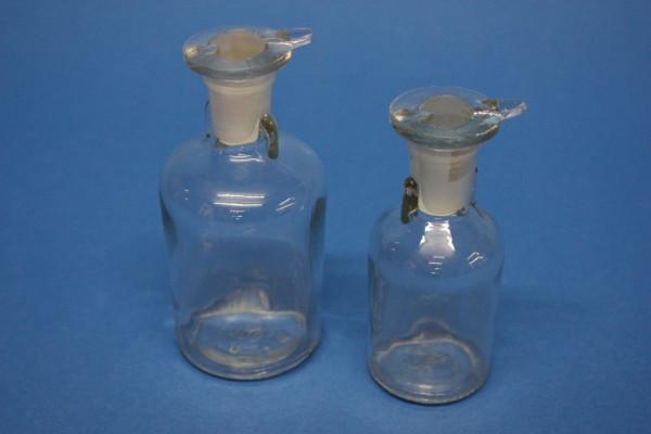 Tropfflasche, klar, 100 ml, (TK), mit flachem Deckelstopfen