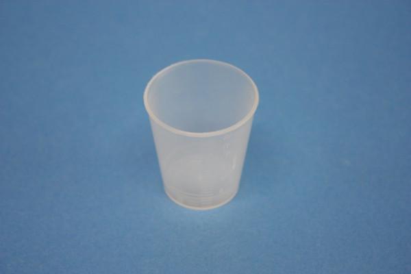 Becherglas aus Kunststoff, 25 ml, mit Skala