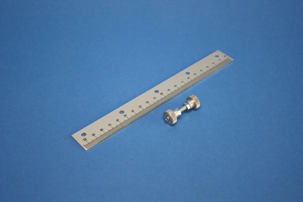 Skala mit Halter, 200 mm lang, Leichtmetall