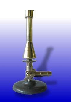 Teclubrenner,nach DIN, für Erdgas, mit Luftregulierung, Hahn und Sparflamme