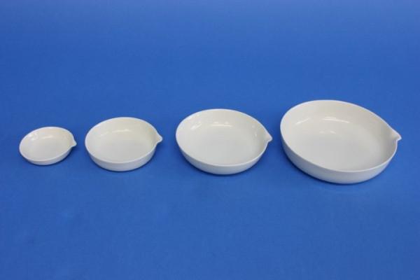 Abdampfschale aus Porzellan, flache Form, 250 ml, 130 x 30 mm