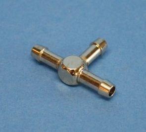 T-Röhrchen aus Metall, 15 mm/25 mm, 5 mm Durchmesser