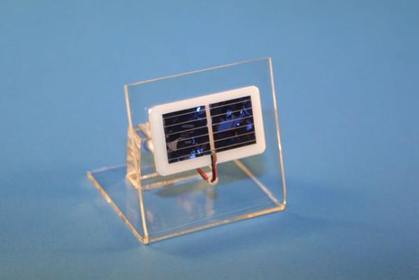 Solarzelle auf Sockel