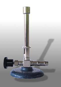 Bunsenbrenner, DIN-Ausführung, für Propan, mit Luftregulierung und Nadelventil