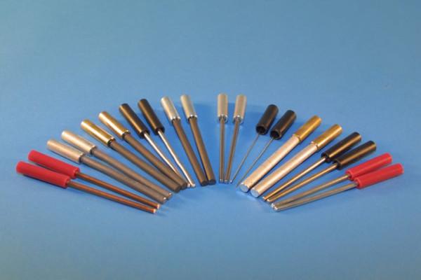 Zinn Stab-Elektrode, rund 120 mm lang