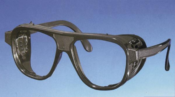 Schutzbrille, aus Nylon, Farbe schwarz mit Kunststoffgläsern farblos, DIN P