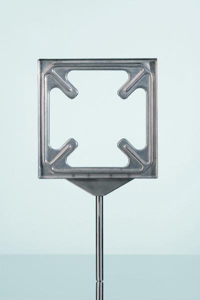Stativ-Plattenhalter, 155 x 155 mm, für Glaskerami
