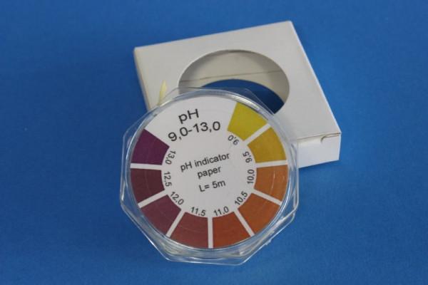 Spezial-Indikatorpapier (pH 9,0 - 13,0), Rolle à 5 m Länge