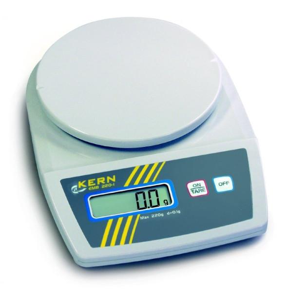 Schulwaage EMB 1200-1, Ablesbarkeit d: 0,1 g, Wägebereich Max: 1200 g