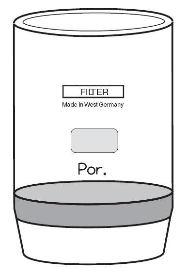 Filtertiegel (Glasfiltertiegel) 30 ml Inhalt, Porosität D2, Durchmesser 30 mm, Höhe 60 mm