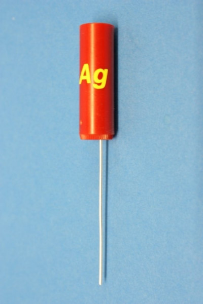 Silberdraht Stab-Elektroden, rund 83 mm (beschriftet)