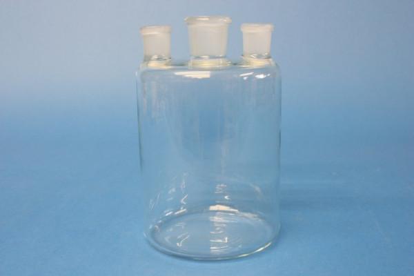 Woulff''sche Flasche, mit 3 Hälsen, NS 19/26, Boro.3.3