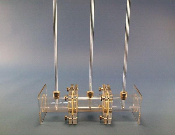 Dreikammerosmometer aus Plexiglas®, zur Demonstration des osmotischen Druckes