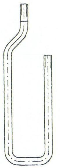 U-Rohr-Manometer und Verbinder, für Venturirohr