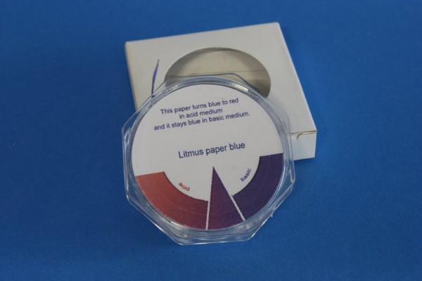 Lackmuspapier blau, Messbereich: 8,0 ph - 5,0, Rolle à 5 m