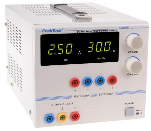 Digital Labornetzgerät 0-30 V DC / 5V /0,5 A 6035 D RISU Konform