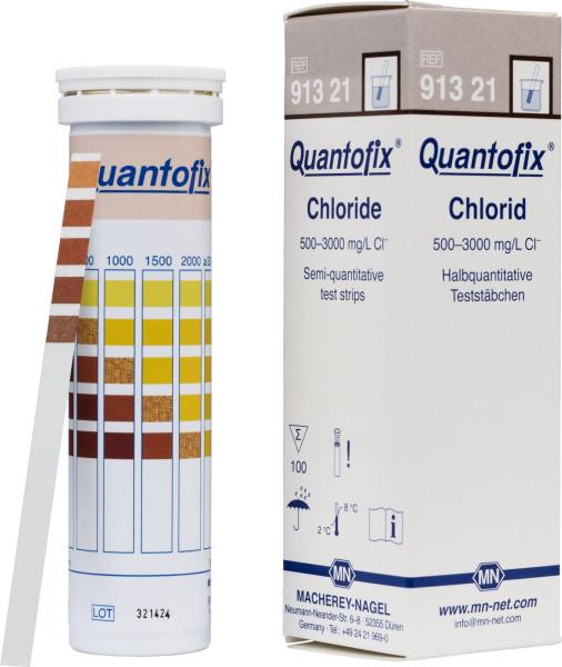 QUANTOFIX® Teststäbchen Chlorid, Dose à 100 Teststreifen