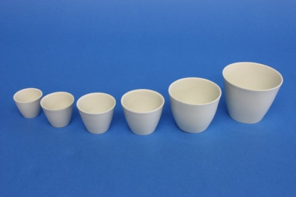 Porzellantiegel, mittelhohe Form, 150 ml, 70 x 56 mm