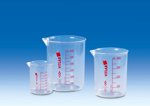 Laborbecher aus TPX® (PMP), 250 ml, nach ISO 7056