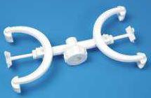 Bürettenhalter aus Polypropylen (PP) für 2 Büretten