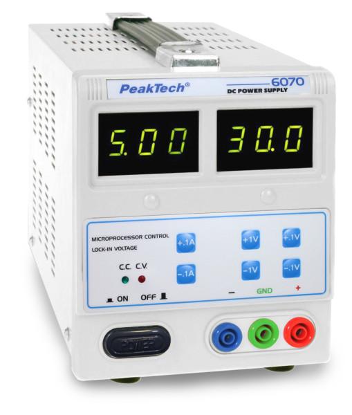 Labornetzgerät, 0 - 30 V/0 - 5 A DC 6070 RISU Konform
