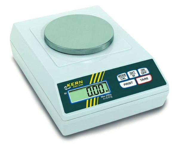 Präzisionswaage 440-33N, Ablesbarkeit d: 0,01 g, Wägebereich Max: 200 g