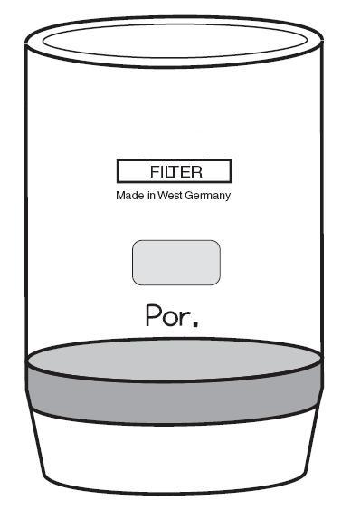 Filtertiegel (Glasfiltertiegel) 50 ml Inhalt, Porosität D4, Durchmesser 40 mm, Höhe 65 mm