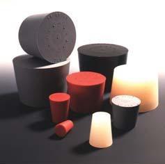 Gummistopfen, 4 x 2,8 mm, konisch