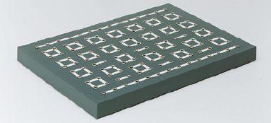 Universal-Steckplatte im 19-mm-Raster