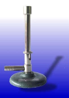Bunsenbrenner, DIN-Ausführung, für Erdgas, mit Luftregulierung