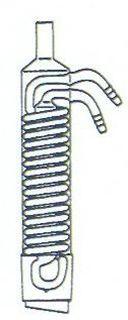 Dimrothkühler für Extraktionsaufsatz, Mantellänge: 250 mm NS45/40