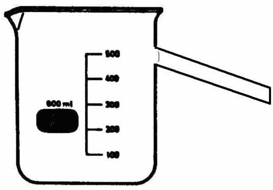 Überlaufgefäß, 400 ml