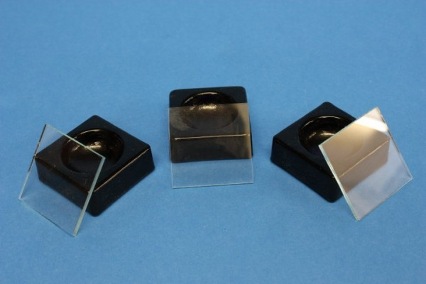Blockschälchen mit Deckplatte, 40 x 40 mm, schwarz