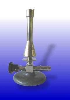Teclubrenner, nach DIN, für Erdgas, mit Luftregulierung, Nadelventil und Sparflamme