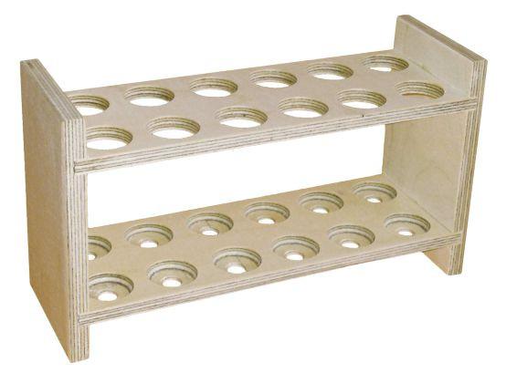 Reagenzglasgestell für 12 Reagenzgläser, Durchm. 21,5, ohne Abtropfstäbchen
