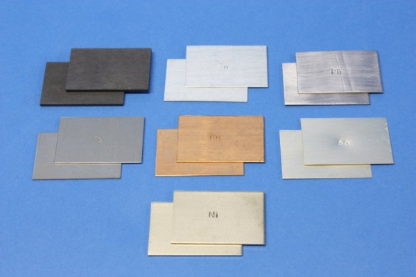 Zink Plattenelektroden, 28 x 43 mm, (2 Stück)