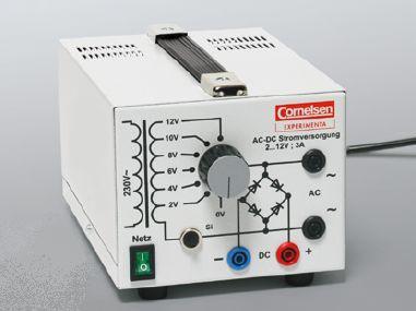 Transformator mit Gleichrichter, 2 bis 12 V/3 A